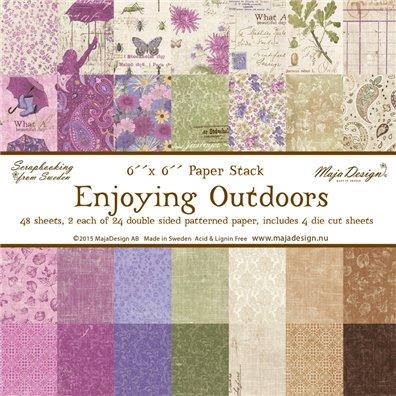 Enjoying Outdoors 6x6 Paper Pack fra Maja Design