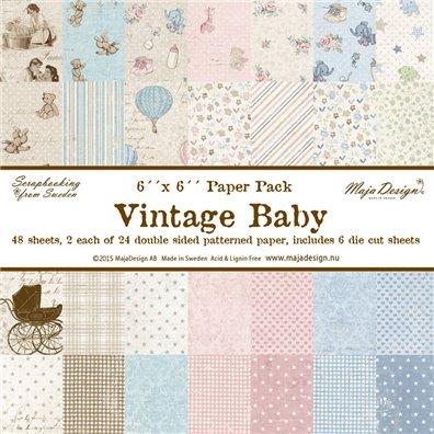 Vintage Baby 6x6 Paper Pack fra Maja Design