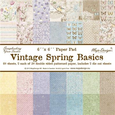 Vintage Spring Basics 6x6 Paper Pack fra Maja Design
