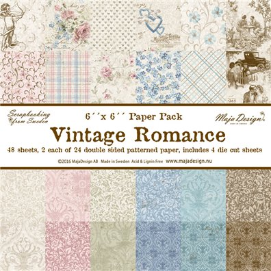 Vintage Romance 6x6 Paper pack fra Maja Design