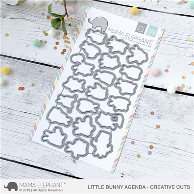 Mama Elephant Creative Cuts - Little Bunny Agenda Dies