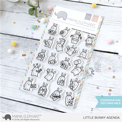 Mama Elephant Clear Stamps - Little Bunny Agenda