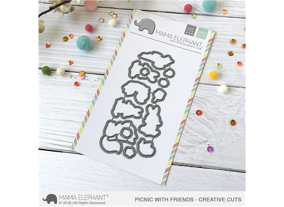 Mama Elephant Creative Cuts - Picnic With Friends Dies