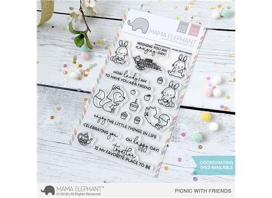 Mama Elephant Clear Stamps - Picnic With Friends