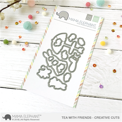 Mama Elephant Creative Cuts - Tea With Friends Dies