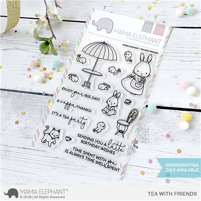 Mama Elephant Clear Stamps - Tea With Friends