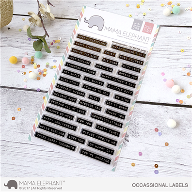 Mama Elephant Clear Stamps - Occasional Labels