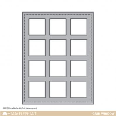 Mama Elephant Creative Cuts - Grid Window Die