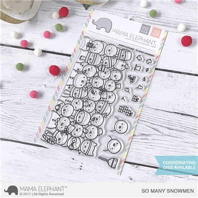 Mama Elephant Clear Stamps - So Many Snowmen
