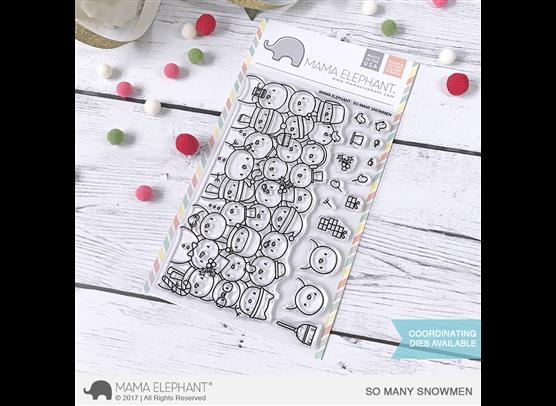 Mama Elephant Clear Stamps - So Many Snowmen
