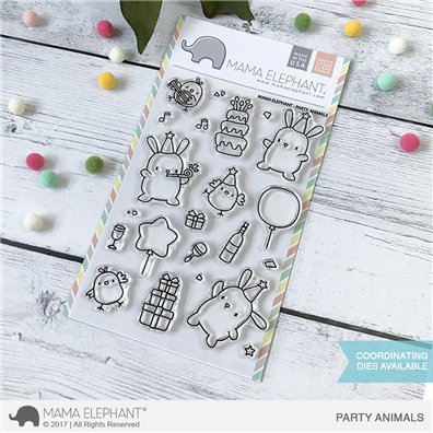 Mama Elephant Clear Stamps - Party Animals