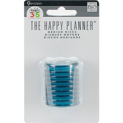 Create 365 Rings - Happy Planner Discs - Teal 1.25""