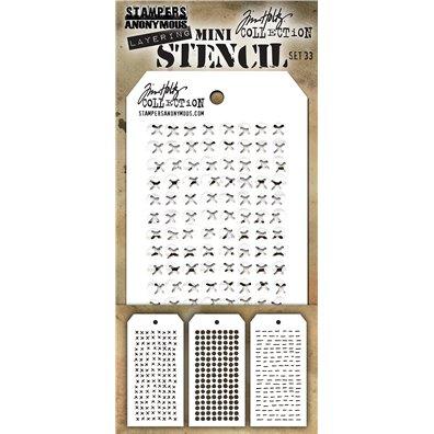 Tim Holtz Stencil/ Mask - Mini Set 33