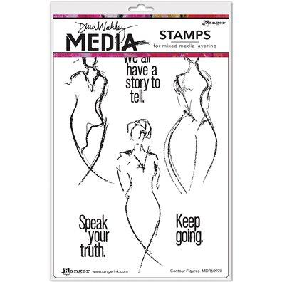 Dina Wakley Cling Stamp - Contour Figures
