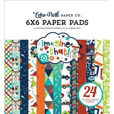 """Echo Park Imagine That Boy 6x6"""" Paper Pad"""