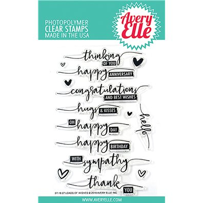 Avery Elle Clear Stamp - Loads of Wishes