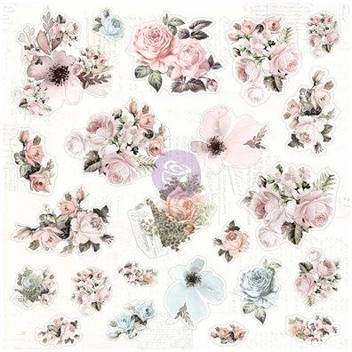 Vintage Floral Traveler's Journal Cardstock Ephemera Die-cuts fra Prima