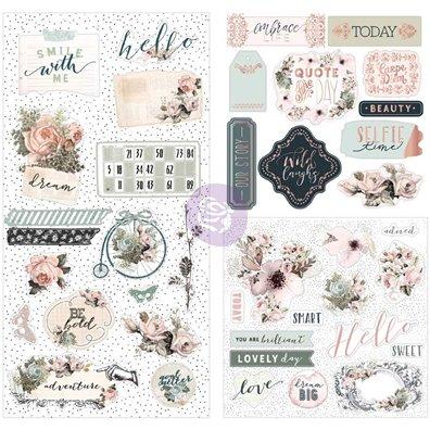 Vintage Floral Traveler's Journal Cardstock/Acetate Ephemera Die-cuts fra Prima