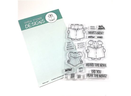 Gerda Steiner Design Clear Stamp - Whats New?