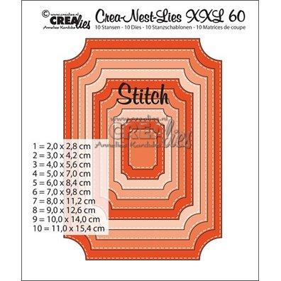 Crealies Dies - Stitched Ticket - Crea-Nest-Lies-XXL 60