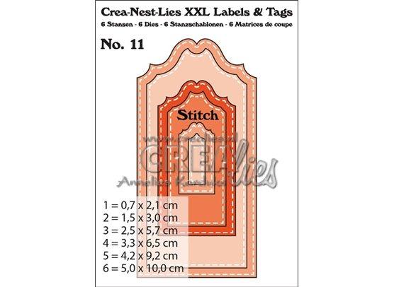 Crealies Dies - Stitched Labels & Tags - Crea-Nest-Lies-XXL 11