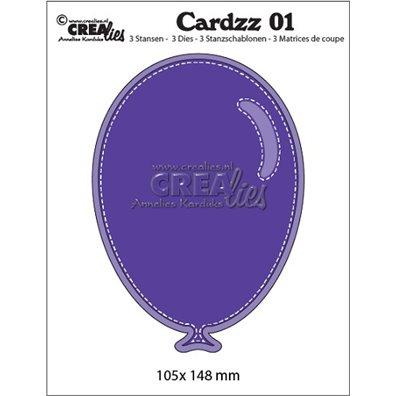 Crealies Dies - Stitched Balloon - Cardzz 01