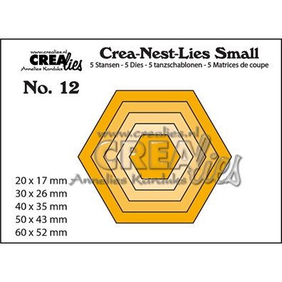 Crealies Dies - Sekskant - Crea-Nest-Lies Small 12