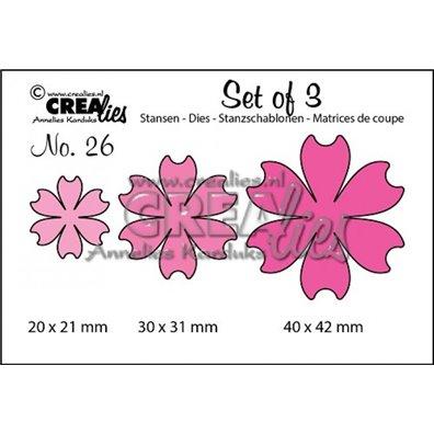 Crealies Dies - Blomster - Set of 3 26