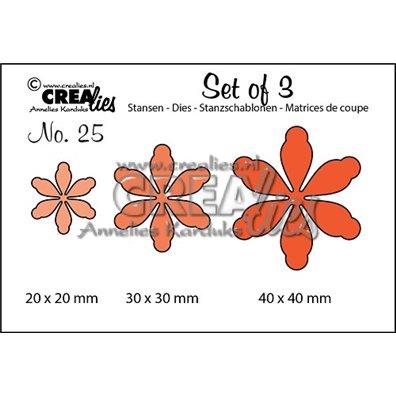 Crealies Dies - Blomster - Set of 3 25