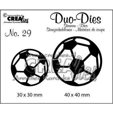 Crealies Dies - Fodbolde - Duo Dies 29