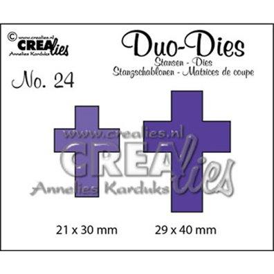 Crealies Dies - Kors - Duo Dies 24