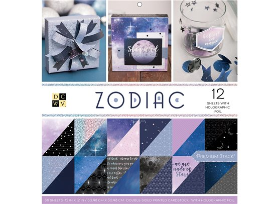 "Zodiac DCWV Double-Sided 12x12"" Cardstock Stack"