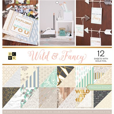"Wild & Fancy DCWV Double-Sided 12x12"" Cardstock Stack"