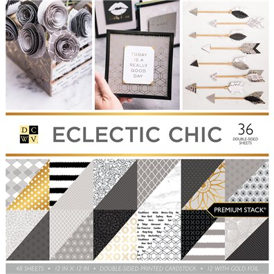 "Eclectic Chic DCWV Double-Sided 12x12"" Cardstock Stack"