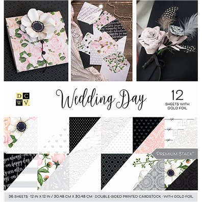 "Wedding Day DCWV Double-Sided 12x12"" Cardstock Stack"