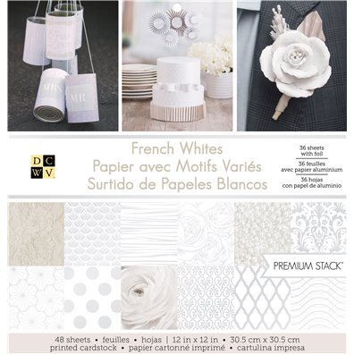 "French Whites DCWV Single-Sided 12x12"" Cardstock Stack"