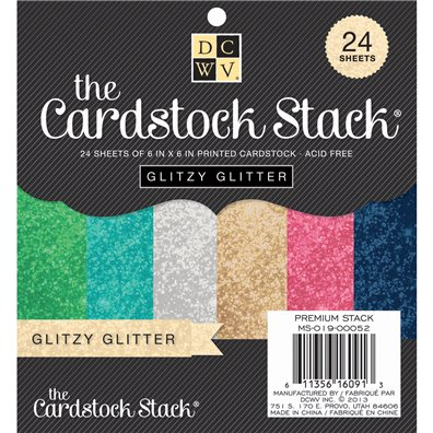 "Glitzy Metallics DCWV Single-Sided 6x6"" Cardstock Stack"