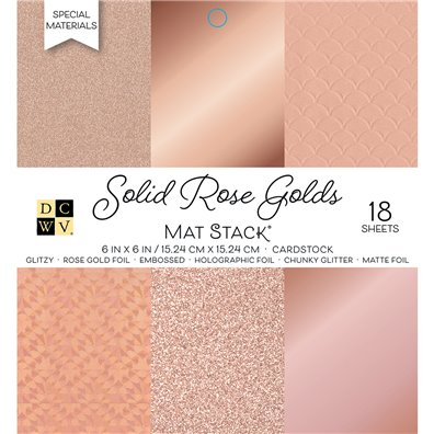 "Solid Rose Golds DCWV Single-Sided 6x6"" Cardstock Stack"