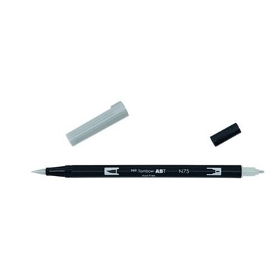 Tombow Dual Brush Pen - N75 Cool Gray 3