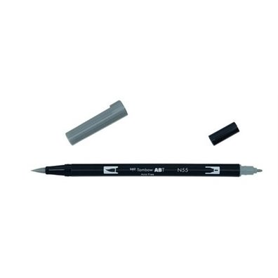 Tombow Dual Brush Pen - N55 Cool Gray 7