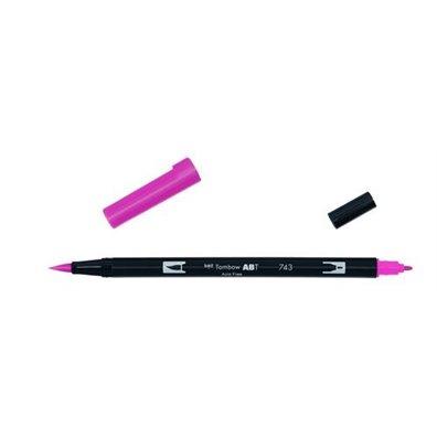 Tombow Dual Brush Pen - 743 Hot Pink