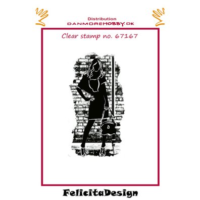 Felicita Design Clear Stamp - Stående pige