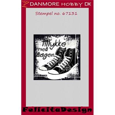 Felicita Design Clear Stamp - Tillykke med Dagen