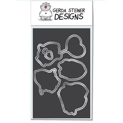 Gerda Steiner Design Dies - Valentine Penguins