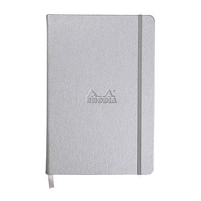 Rhodia Dot Grid Webnotebook - Silver Hardcover