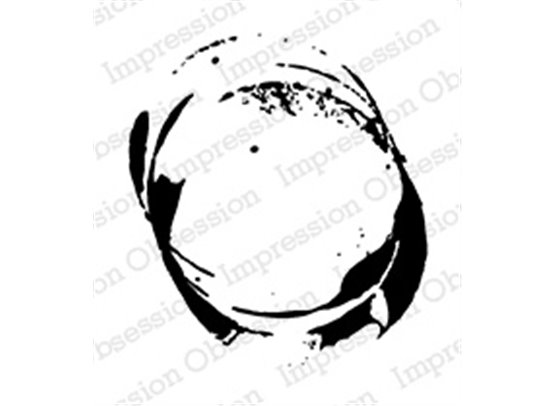 Impression Obsession Cling stamp - Grunge Circles