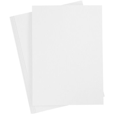 Karton A4, 20 ark - Hvid
