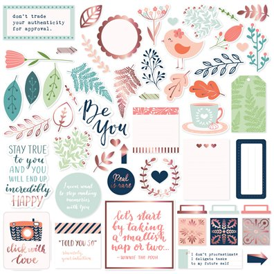 Be You Die-cut Ephemera Pack fra Pinkfrest Studio