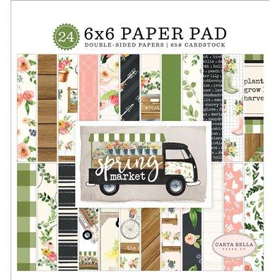 "Spring Market 6""x6"" Paper Pad fra Carta Bella"