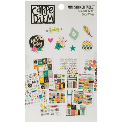 Good Vibes - Carpe Diem Mini Sticker Tablet
